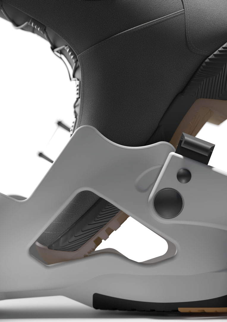 ski boot concept - detail